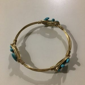 Jewelry - Anchor Wire Wrapped Bracelet Turquoise Like New